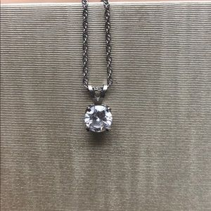 Jewelry - Diamond & White Gold Solitaire Pendant